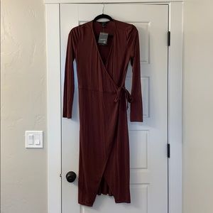 Forever 21 Maroon Wrap Dress